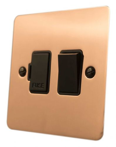 G&H FBC57B Flat Plate Bright Copper 1 Gang Fused Spur 13A Switched